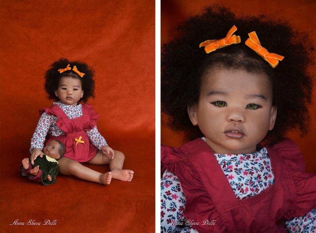 Sheva Dolls Ethnic Aa Black Biracial Lifelike Reborn Toddler Art Doll Amaya Sold